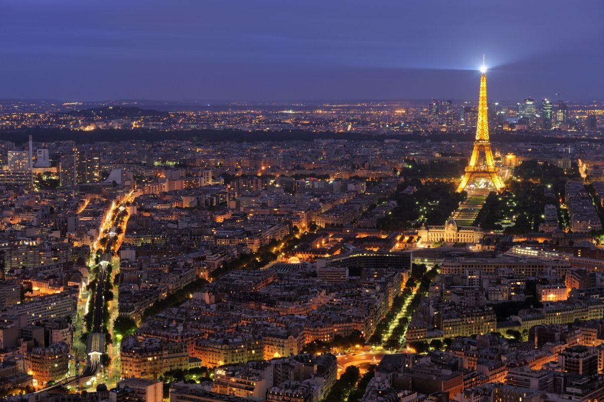 วิวมุมสูงของกรุงปารีส