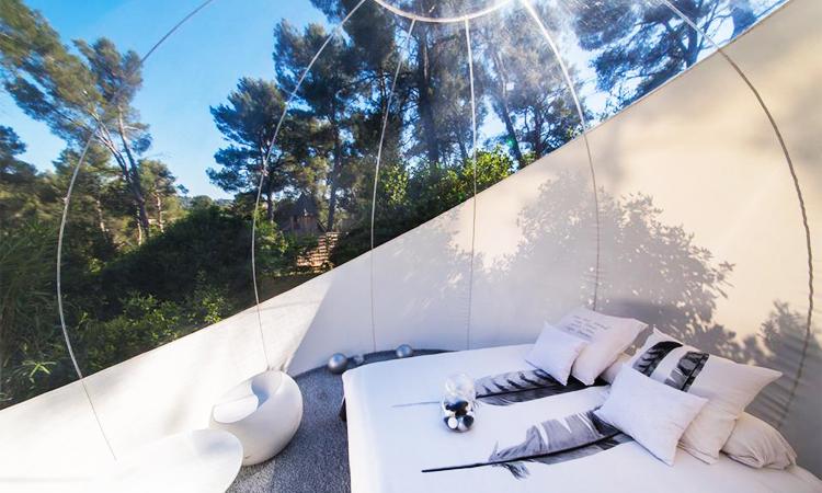 โรงแรมฟองสบู่, bubble hotels, ฝรั่งเศส