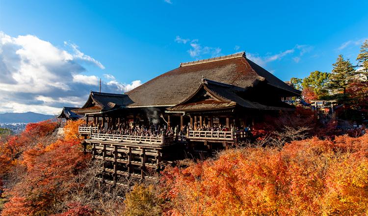 ใบไม้เปลี่ยนสี, วัดคิโยมิซึ, เกียวโต